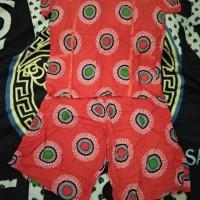 Piyama Batik Kencana ungu free size (s.d. L besar/XL)