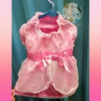 Princess Rose Pink Dress Imported Baju anjing doggy pet fashion