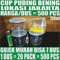 Cup puding bening/sambal/ice cream/eskrim/srikaya/slime/gelas/jelly