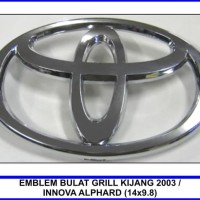 PROMO EMBLEM BULAT GRILL KIJANG 2003/INNOVA ALPHARD (14X9.8CM)