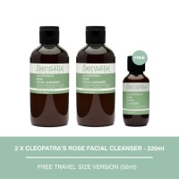 Sensatia Botanicals Cleopatra's Rose Facial Cleanser Twin Pack