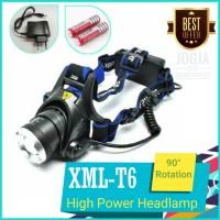 Paket Senter Kepala / High Power Headlamp LED Cree mata satu