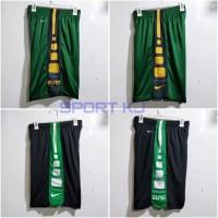 Celana basket Nike elite Stripe hitam strip putih/hijau/kuning