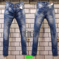 Celana jeans pria skinny/pensil GUESS PREMIUM STRETCH soft jeans BLUE