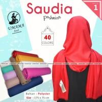 Kerudung Pashmina SAUDIA UMAMA Hijab Jilbab Polos