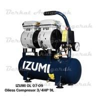 IZUMI OL 0709 Kompresor Oilless 3/4 HP 9 L/ Air Compresor Listrik