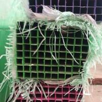 ALUMINIUM Hollow 14x14 Kotak panjang 6 meter / finish powdercoat hijau