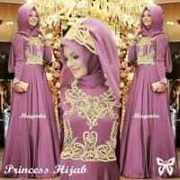 Baju Atasan Gamis Wanita Muslim Syari - Princess Hijab - Dress Pesta