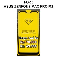 Tempered glass 5D Asus Zenfone Max Pro M2 anti gores full screen guard