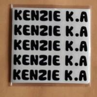 Sticker Mini / Label Waterproof Mini / Stiker Nama Tanpa Gambar Kenzie