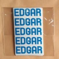 Sticker Nama Mini / Label Waterproof /Stiker Nama Tanpa Gambar Edgar