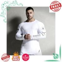 Pria Running Kaos Olahraga Gym Kebugaran Kompresi Kurus T Shirt Pria