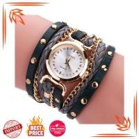 Jam Tangan Wanita Impor Indah Fashion Leather Band Gelang Kasual