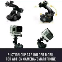 Holder Mobil Cup Car suction for action cam xiaomi yi gopro brica sjca