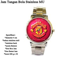 Jam Tangan Bola Stainless RED