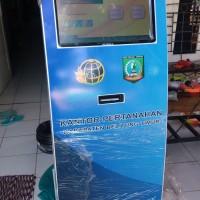 "Mesin Antrian Kiosk touchscreen 19"" mesin antrian anjungan"