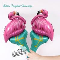 balon pentung flamingo / balon stick foil flamingo / balon tongkat