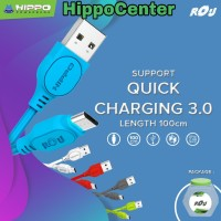 Hippo Rou Micro Usb 100cm Kabel Data Charger Fast Charging For Android
