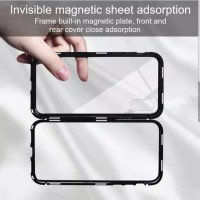 Samsung A6 plus/A8 plus Magnetic 2 in 1 Chrome Case