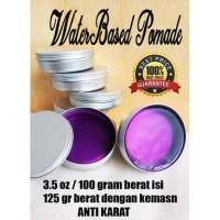 Pomade Waterbased 100 gram pot almunium silver anti karat non label