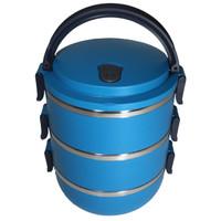 Rantang Bulat Polos 3 Susun Stainless Steel - Kotak Makan - Lunch Box