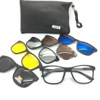 Paket Frame Kacamata Minus Anti Radiasi Clip On 2201 Pria Wanita