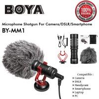 Microphone BOYA BY-MM1 Shotgunfor Camera DSLR Smartphone VLOG ORIGINAL