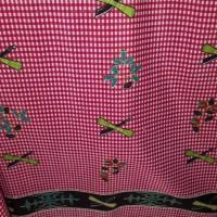 kain Batik Ambon kotak merah motif