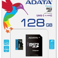 MICRO SD Card ADATA - 128GB Memory Card With Adapter microsd