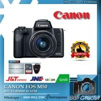 Canon EOS M50 Kit 15-45mm IS STM Garansi Resmi 1 Tahun