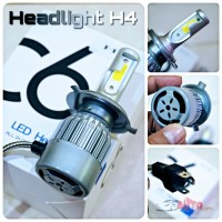 PROMO - Lampu LED Turbo C6 - Socket H4 - Super Bright Bagus