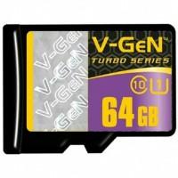 V-gen Micro SD Vgen 64GB Class 10 TURBO SERIES Memory Card ORIGINAL