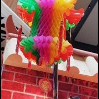 Gosend Bisa Promo Tenlung Imlek Naga Kecil Lampion Lipat 3D Dekorasi