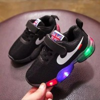 Sepatu Anak NIKE LED / Sport Olahraga Running / Sneakers import