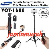 Tongsis 2in1 Yunteng VCT 1688 Tripod plus remote Bluetooth