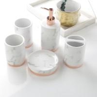 Premium Bathroom Set FRANC White Marble