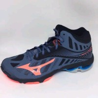 SEPATU VOLLY VOLLEY MIZUNO WAVE LIGHTNING Z4 MID BLUE MIRAGE