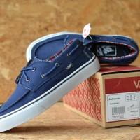 sepatu pria vans zapato navy white 39-44 premium Dt