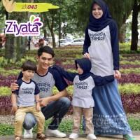 Baju Couple Baju Keluarga Baju Muslim Baju Anak Kaos Ziyata Sarimbit 6