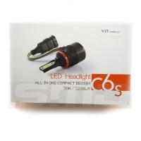 Lampu V15 Turbo LED H11 H8 H16 Canbus Error Free Headlight Mobil
