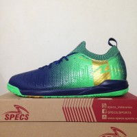 Sepatu Futsal Specs Swervo Thunderbolt 19 IN Shadow Blue 400830 Ori
