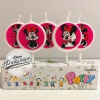 lilin kue karakter minie mouse / lilin ulang tahun / lilin minie mouse