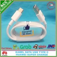 Kabel Data Charger Huawei P20 USB Type C Original 100% Super Charge - Putih