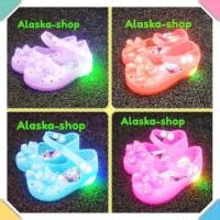 sepatu sandal anak perempuan bayi balita lampu led