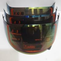 kaca helm flat-visor rainbow-pelangi pnp kyt r10, kyt rc7, kyt k2rider