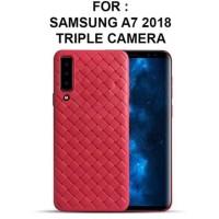 Case Samsung A7 2018 Slim Wooven weave Softshell Caselab Premium TPU