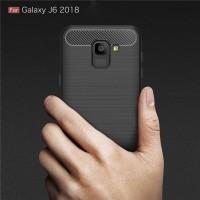Carbon Fiber Slim Soft Case Samsung Galaxy A6 A8 J4 J6 Plus 2018 - Hitam, A6 Plus 2018