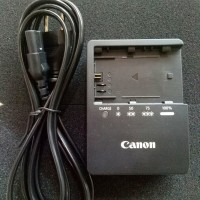 Battery charger kamera canon lc-e6e bekas ORIGINAL