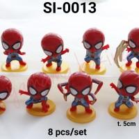 SI-0013 Topper mainan figurine karakter baby spiderman lucu superhero