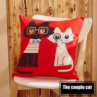 Sarung Bantal - Couple Cats